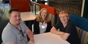 Patrick Moller, Jenny, and Robert Pratten at ARG-Fest.